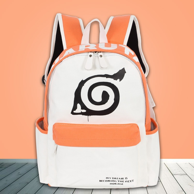 Women Men Anime Naruto Ninja Uzumaki Naruto Backpack Travel Rucksack Mochila Schoolbag Bag For School Boys Girls Student Gift women men anime black bulter sebastian michaelis backpack rucksack mochila schoolbag bag for school boys girls student travel