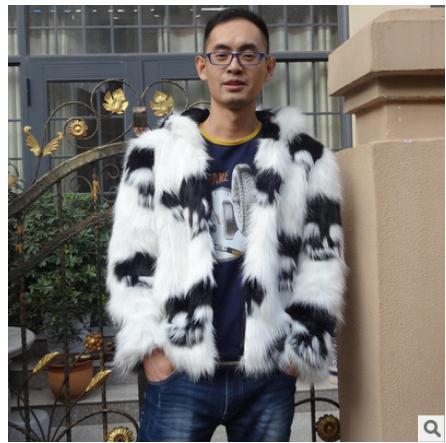 S / 3Xl Muška majica s kapuljačom Velikih veličina Faux Fox Krzno - Muška odjeća