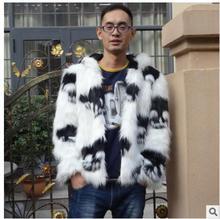 S/3Xl Mens Hooded Große Größe Faux Fuchspelz Schädel Druck Casual Winter Und Herbst Fur Jacken Patchwork Männlichen Outwears Kleidung C3