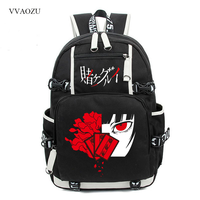 Kakegurui Jabami Yumeko Cosplay Men's Backpack Vintage Women Canvas Backbag Large Capacity Travel Bags Laptop Mochila Feminina