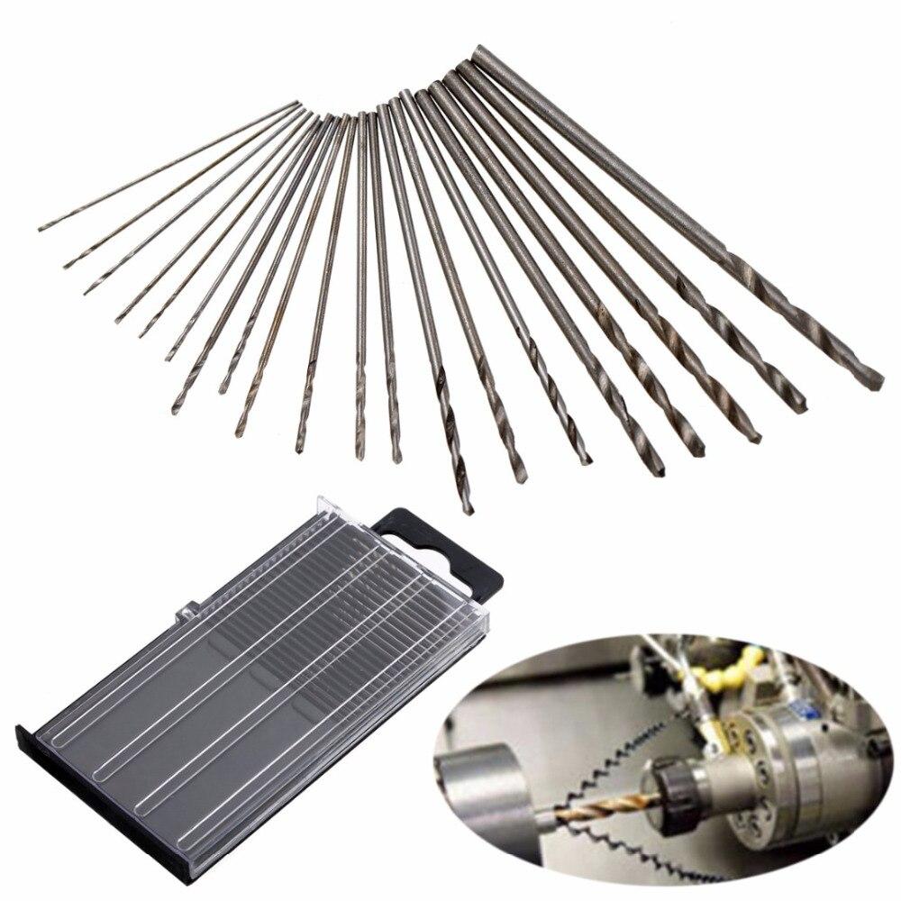 20Pcs HSS Twist Drill Bit Set Mirco Mini Drill Bits 0.3mm-1.6mm With Case For Power Tools