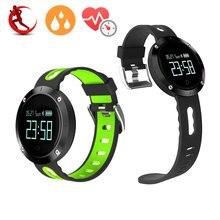 DM58 смарт-браслет Приборы для измерения артериального давления сердечного ритма браслет IP68 Водонепроницаемый Фитнес Tracker спортивные часы smartband для IOS Android