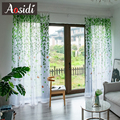 AOSIDI Willow современные тюлевые шторы для гостиной  спальни  с принтом птицы  вуаль  прозрачные Занавески для окна  тюль  занавески  занавески