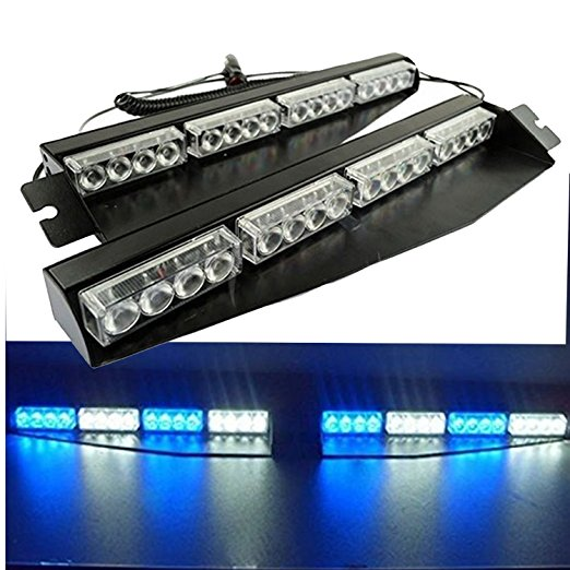 02003 32LED 32W Lightbar Visor Light Windshield Emergency Hazard Warning Strobe Beacon Split Mount Deck Dash Lamp led strobe new coming led lightbar 240 led 20w beacon light with magnets emergency strobe light bar dc12v led warning light