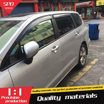 For Odyssey Plastic Window Visor Vent Shades Sun Rain Deflector Guard For Honda Odyssey Auto Accessories 4PCSSET honda odyssey