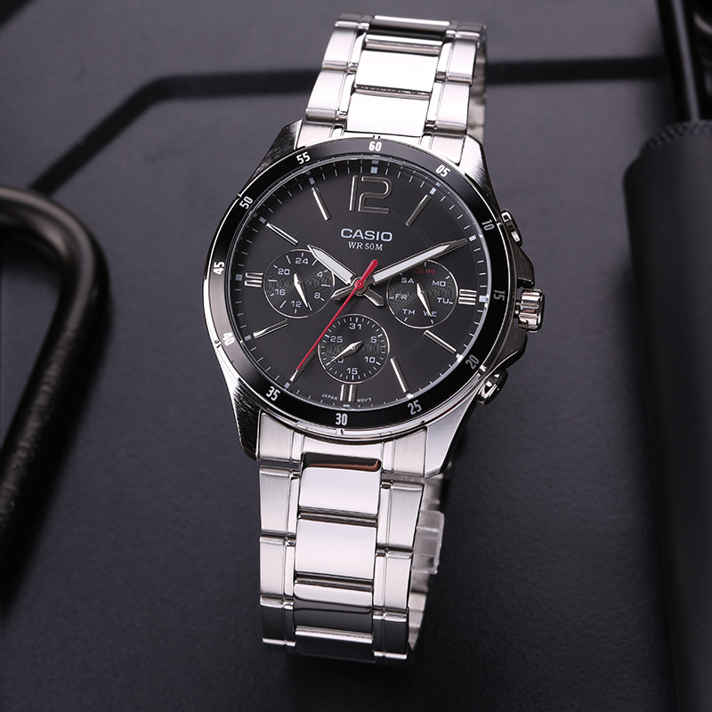 Casio watch men s business casual pointer series quartz men s watches MTP 1374D 1A