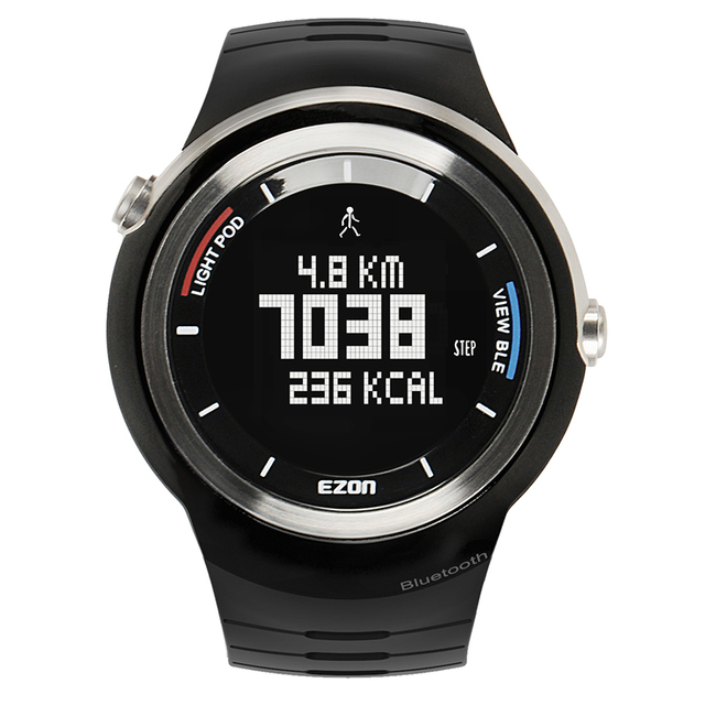 Men's Multi-Function Waterproof Smart Sports Running Watch S2 With Pedometer  Pair With Android 4.3 /IOS6.0 Or Higher Bluetooth