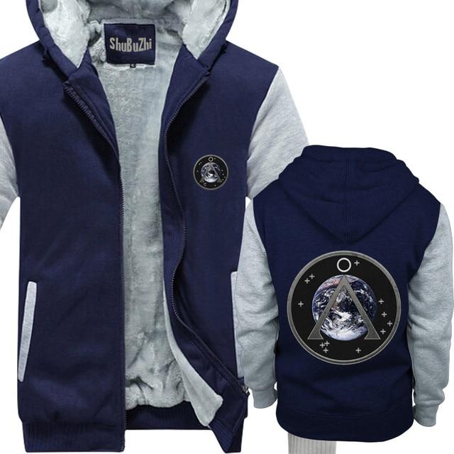 US $44 54 |thick coat Stargate SG 1 Project Earth Patch shubuzhi men Winter  padded zipper sweatshirt cool hoodies fleece print hoody-in Hoodies &