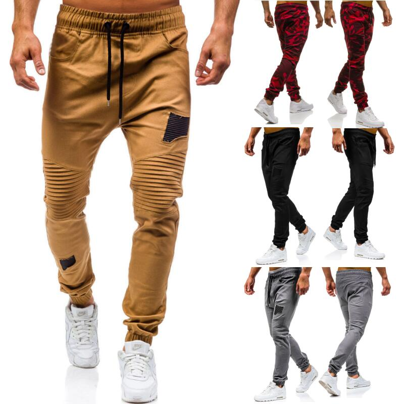 2019 Men's New Fashion Chinos Men's Casual Jogging Pants Cotton Sports Pants With Loose Band Cuffs