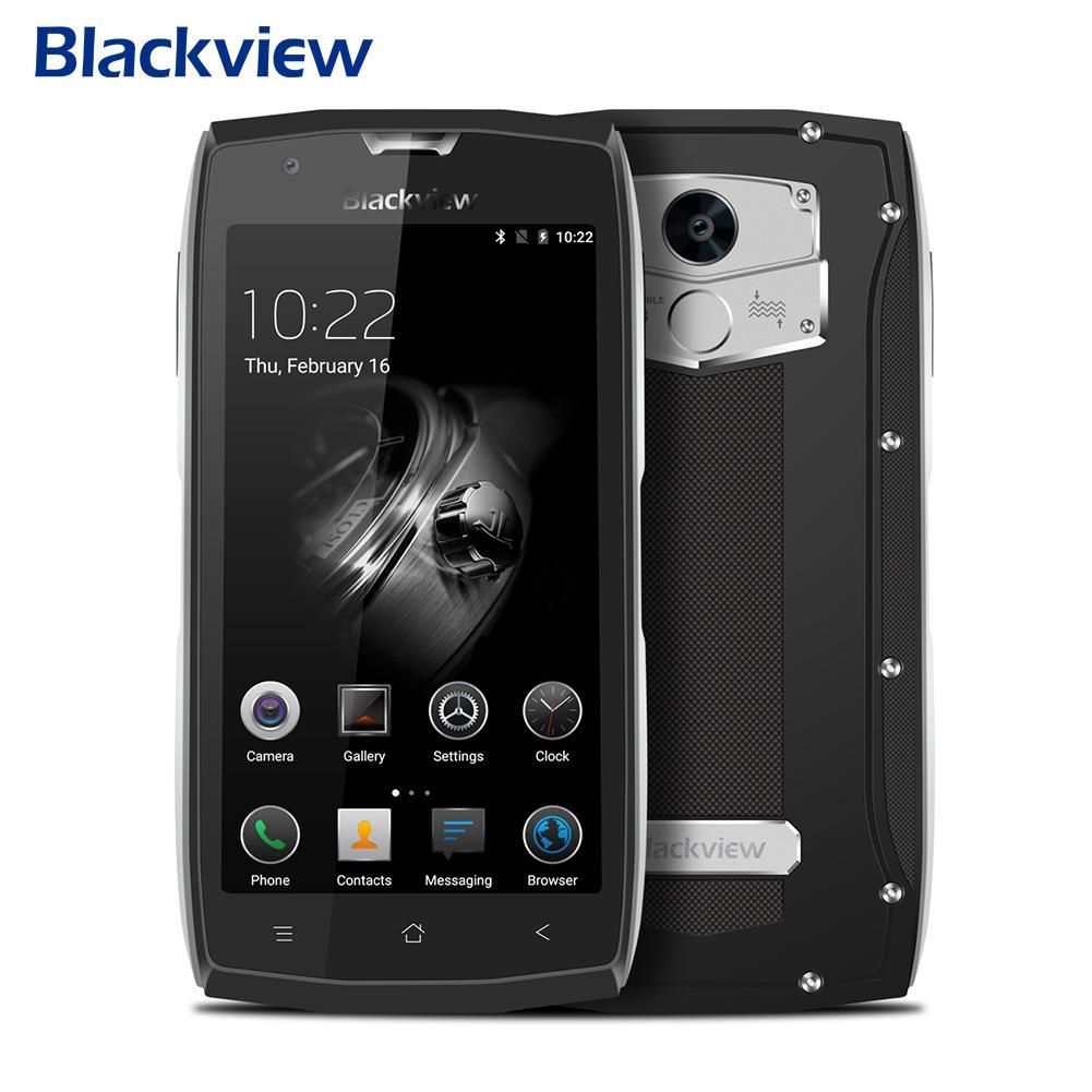 Blackview BV7000 Pro Impermeabile Smartphone MT6750T Octa Core da 5.0 Pollice Moblie Phone 4 GB di RAM 64 GB di ROM 13.0MP Android 6.0 Cellulare