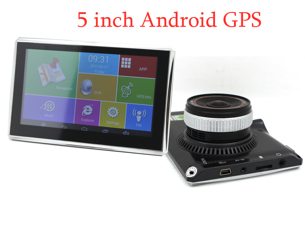 KARADAR 5 inch Car portable  GPS navigation with OS Android CPU MTK8127 DDR512  with Bluetooth Wifi FM and1080P DVR camera