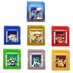 Poke серия Золото Зеленый Серебряный Синий Красный 16 бит видео игровая карта-картридж версия на английском языке