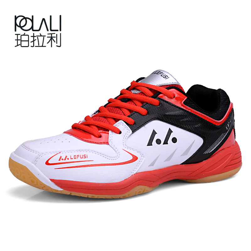 POLALI Professional Badminton Shoes For Men Women Badminton Sneakers Lefusi Couples Badminton Sneaker Indoor Sport Tennis Shoes image