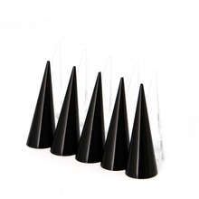 1pc Acrylic Finger Cone Ring Stand Jewelry Display Holder Show Case Organizer