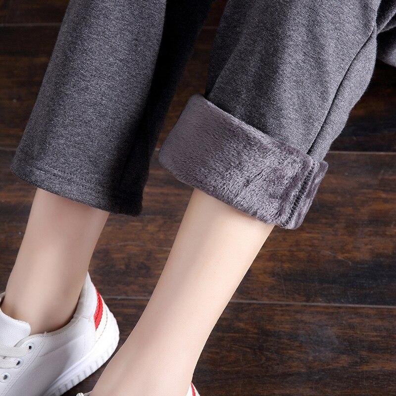 Mujeres Nueva Pantalones Rectos Ocasional Black Moda Engrosamiento Ocio Caliente De Forrado pink Sweatpants Colour blue Franela gray Cordón Invierno gqPXwxgRr