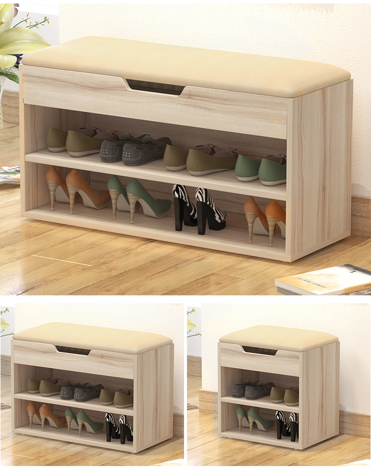 Multifunctional Storage Shoes Cabinet Shoe Rack Stool Style Shoe
