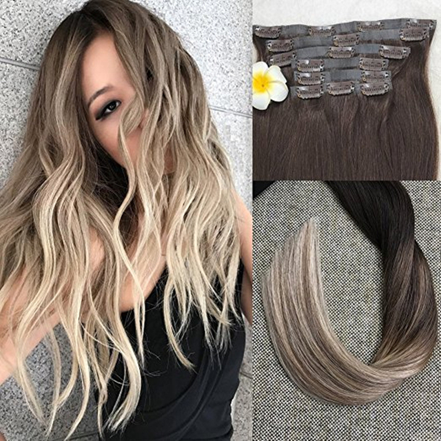 full shine seamless tape in clip hair extensions ombre. Black Bedroom Furniture Sets. Home Design Ideas