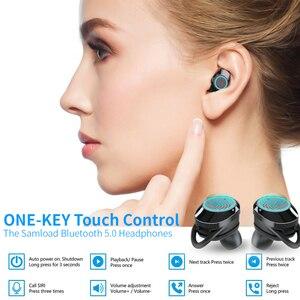 Image 5 - Écouteurs stéréo TWS Bluetooth 5.0, Mini oreillettes sans fil, étanches, avec boîte de chargement
