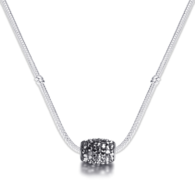 Catena Del Serpente di modo Branelli Di Fascino di Cristallo Collane Pendenti con gemme e perle di Cristallo Dei Monili di Trasporto Libero