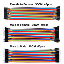 ¡Envío Gratis! Dupont línea 120 piezas 30 CM macho a macho + macho a hembra y hembra puente Dupont cable para Arduino