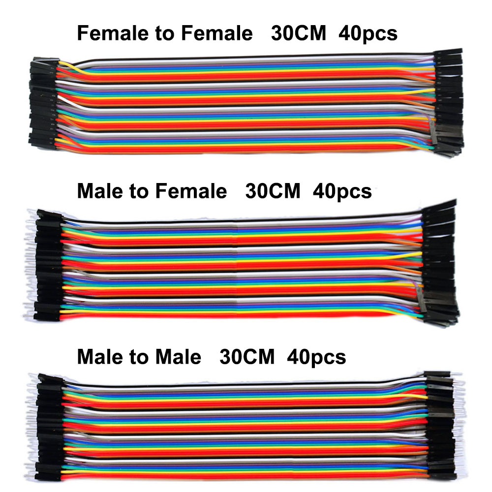 Free shipping ! Dupont line 120pcs 30CM male to male + male to female and female to female jumper wire Dupont cable for Arduino 50cm 4p double headed dupont line male to male 4pin revolution color connecting line