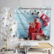 Jane YU New Christmas Holiday Cartoon Deer Multi Function Wall Hanging Beach Towel Tapestry