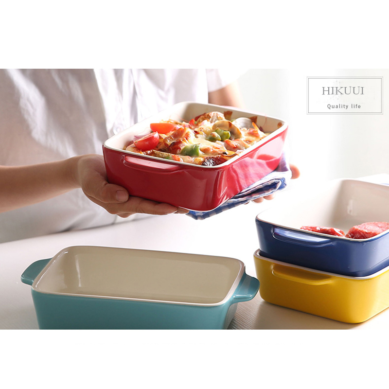 Ceramic Baking Bowl Dish Rectangular deep dish ceramic plate chees Baked Rice baked fish microwave oven bakeware on Aliexpress.com | Alibaba Group  sc 1 st  AliExpress.com & Ceramic Baking Bowl Dish Rectangular deep dish ceramic plate chees ...