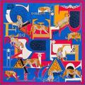 Femme Мода Роскошь Чистой Шелковой Саржи Площади Большой Шарф Леопарда Цифровая Печать Шаль Марка сокрытия Платки Foulards