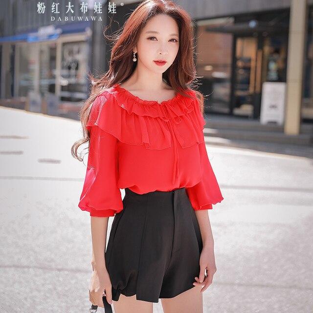 0f01135afe30 original shorts female 2018 summer new korean temperament fashion high  waist lantern leg black shorts women wholesale