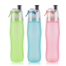 740ML Water Drinking Bottle Misting Spray Healthy Sport Gym Cycling Camping Hiking Moisturizing Cool Outdoor Bottle