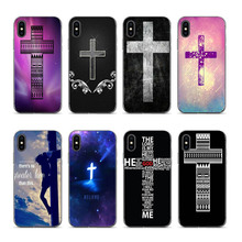 лучшая цена Cross Belief Pattern Case Back Cover Soft Silicone Printed Covers for Apple iPhone XS XR XSMAX 7 7plus 8 8plus 6 6 6plus coque