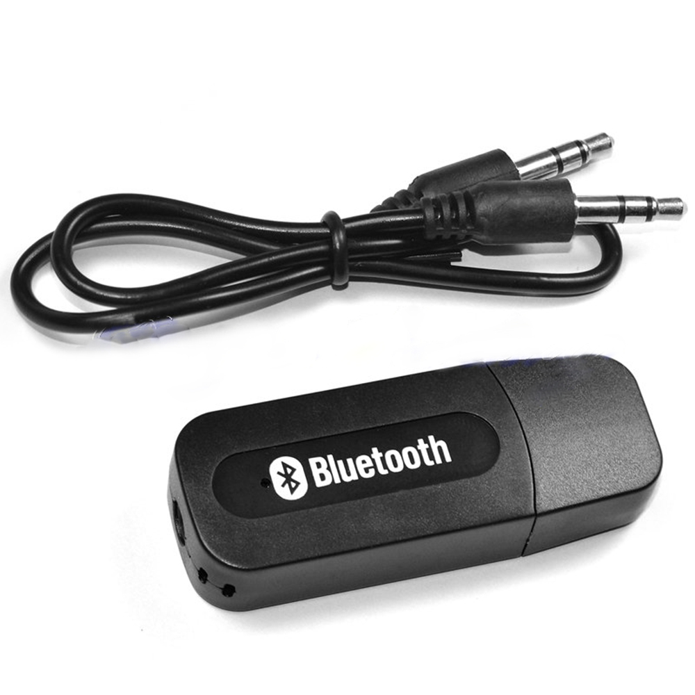 Portable Black USB Bluetooth Audio Music Receiver Wireless Adapter 3.5mm USB-in Portable