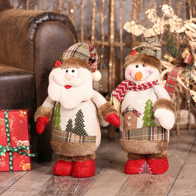 Christmas Decorations for Home Christmas Dolls Santa Claus Toys Stangding Figurines Decoration Christmas Gift for Kids
