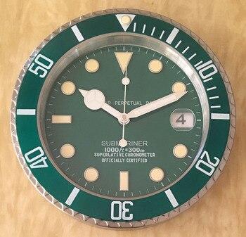 Wall Clock Luxury Design Metal Art Watch Clock Relogio De Parede Home Decor with Corresponding Logos Dropshipping