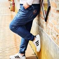 Plus Size Jeans Men elastic waist strech 40 42 44 46 48 50 Large size Jeans Mens Large size Trouser Loose Jeans for Men 2XL 8XL