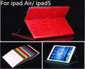 Freeshipping 2015 nuevo caso de la manera para ipad 5 de lujo caliente de la venta cubierta del caso del cocodrilo para apple ipad air ipad5 con soporte + 1 unids película