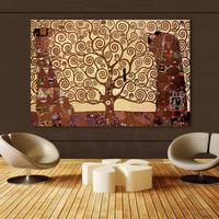 Vintage Poster Oil Painting Wall Picture For Living Room Vienna Secession Tree Of Life Canvas Art Posters and Paintings