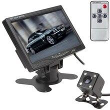 7 дюймов TFT lcd цветной 2 видео вход автомобильный монитор заднего вида подголовник монитор с 170 градусов широкоугольный объектив камера ночного видения