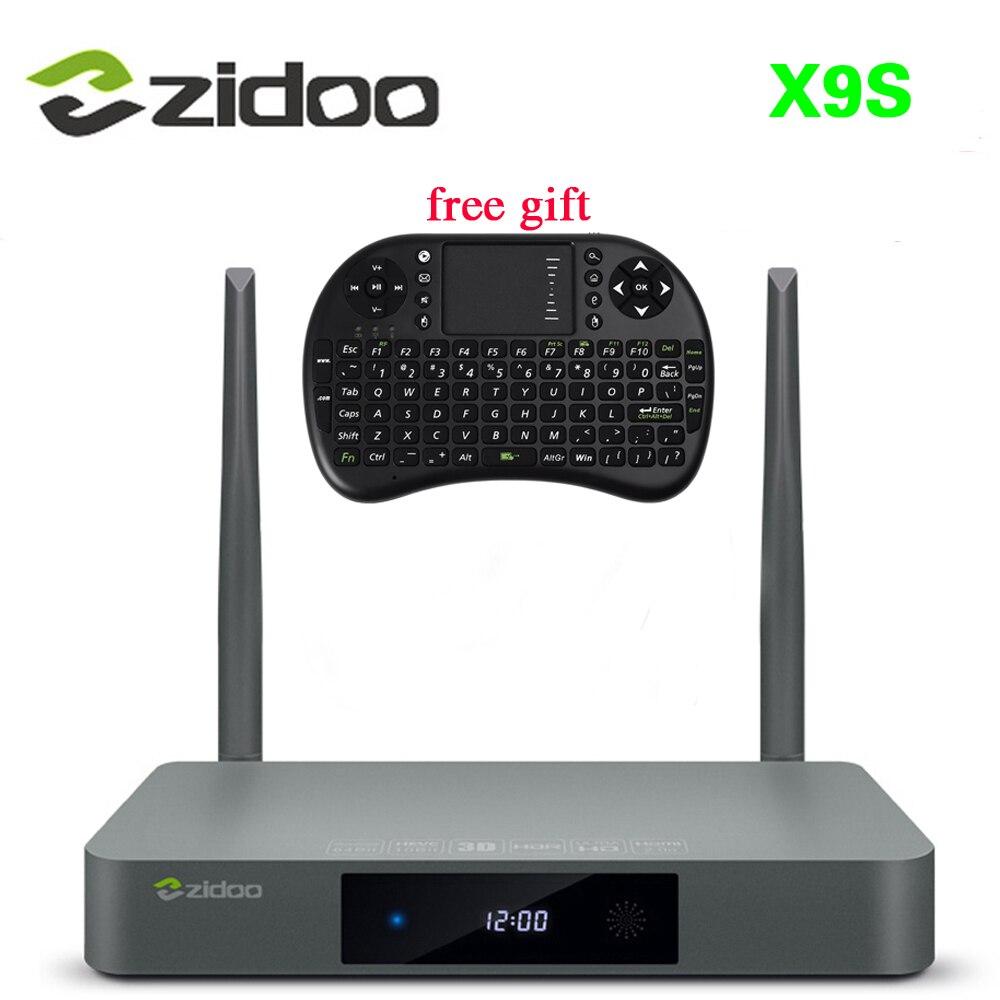5pcs/lot Presale ZIDOO X9S Android 6.0+OpenWRT(NAS) TV BOX Realtek RTD1295 2G/16G 2.4GHz/5.8GHz Wifi BT4.0 1000M Media Player 5pcs lot realtek rts5117 communication control chip