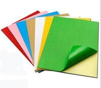 210mm*297mm A4 Size Matte Gloss Colour Paper Inkjet Laser Printer Self adhesive Stickers Vinyl Film