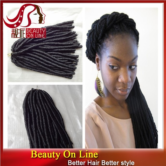 Best Selling Synthetic Braiding Hair Dreadlocks 4 Pcslot Natural
