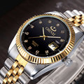 Relojes hombres marca de lujo reloj de oro chenxi hombres llenos de acero relojes de pulsera calendario impermeable reloj casual relogio masculino mujer