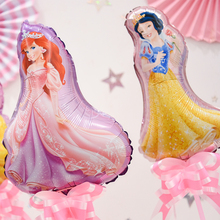 10pcs/lot Mini Belle Aurora Cinderella Snow White Princess Balloon Baby shower Birthday Party Decoration globos kids toys Globos
