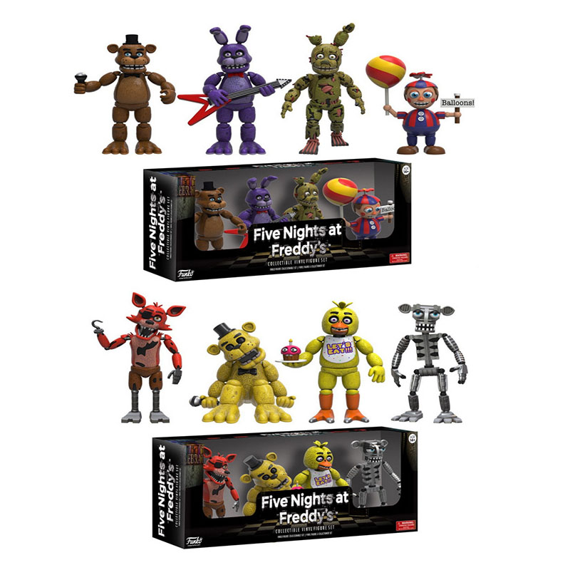 4pcs/lot 5cm Five Nights At Freddy's 4 Figure Pack Five Nights At Freddys Action Figures FNAF Toys Model Christmas Gifts
