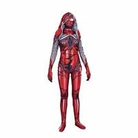 Lycra Women Venom Red Cloak Large Spider Man Cosplay Tights Spider Man Plays Cosplay Costumes Body