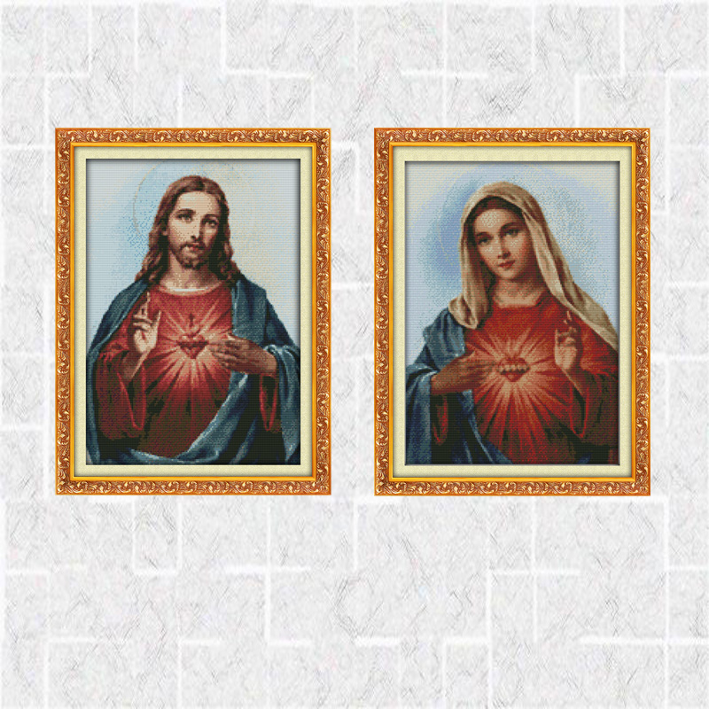 Needlework DIY DMC Cross stitch Sets For Embroidery kits Sacred Heart of Jesus Patterns Counted Cross Stitching Home Decoration|Package|Home & Garden - AliExpress
