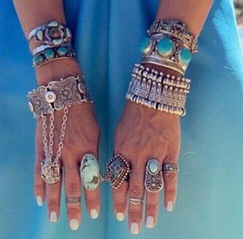2015 vente en gros de bohême argent Antalya pièce Bracelet Boho Coachella  bijoux turque ethnique Tribal
