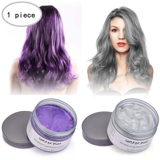 OSHIONER יוניסקס 4 צבע מוצרי עיצוב שיער צבע שעוות צבע אחד-זמן להדביק דפוס ארבעה צבעים שיער צבע שעווה שיער קרם