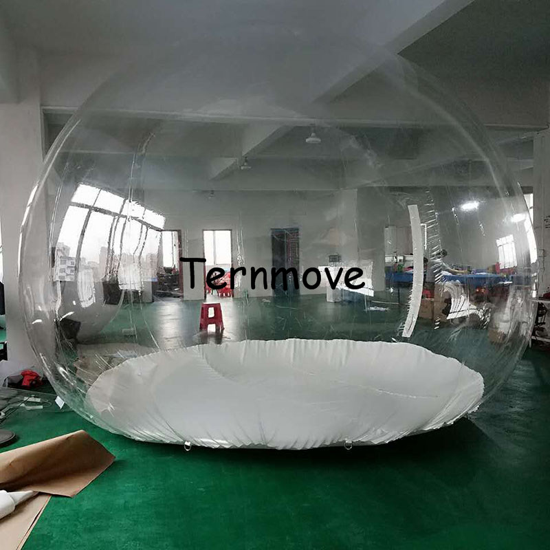 4m Bubble event tent,inflatable lawn tent,Outdoor 0.45mm pvc clear inflatable bubble house,kids play game and dancing ball inflatable tent with blower for children funny outdoors park indoor pvc white play house bubble tent commercial with toilet