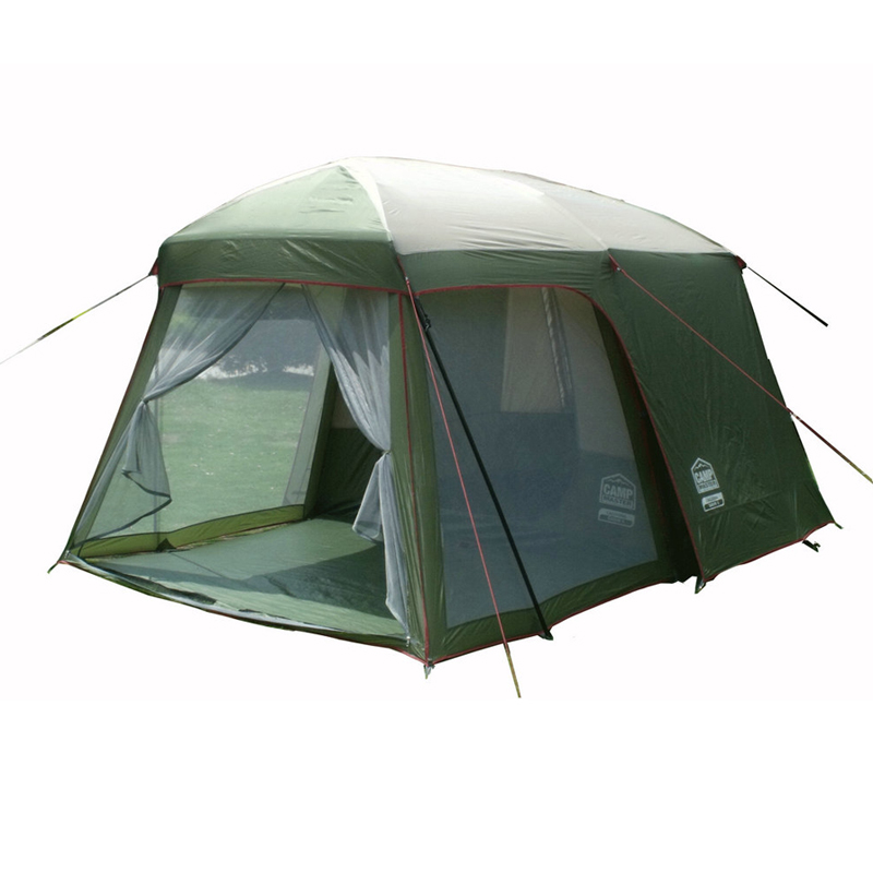 Double layer garden tent for family party 3-4 person camping tourism tent family big outdoor 4 season hunting waterproof tents 3 4 person tents rainproof waterproof outdoor camping tent tourist tent for hunting picnic party camping